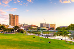 Adelaide city skyline Royalty Free Stock Images