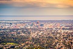 Adelaide city skyline royalty free stock photography