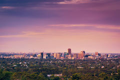 Adelaide City View Stockfotos