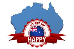 Adelaide cup day. australia flag and map celebration. vector illustration stock illustration