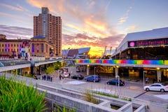 Adelaide Festival Centre und Interkontinentalhotel Stockfotografie
