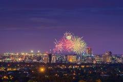 Adelaide-Feuerwerke Stockfoto