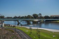 Adelaide Footbridge 12. The new footbridge crossing the river torrens adelaide Stock Images