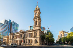 Adelaide GPO Post Shop with tower bell. Adelaide, Australia - January 3, 2016: Adelaide GPO Post Shop with tower bell located at Victoria Square in Adelaide CBD Royalty Free Stock Image