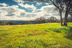 Adelaide Hills landscape. Adelaide Hills region landscape viewed from Woodside, South Australia royalty free stock photography
