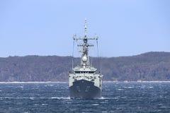 Adelaide-klasselenkwaffenfregatte HMAS Sydney FFG 03 der k?niglichen australischen Marine stockfotografie