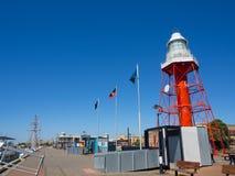 Adelaide Lighthouse portuária é um marco situado na parada norte de Adelaide portuário Foi iluminado primeiramente em 1869 foto de stock royalty free