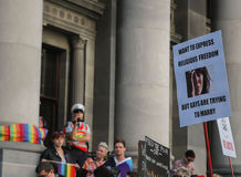 Adelaide Marriage Equality Images libres de droits