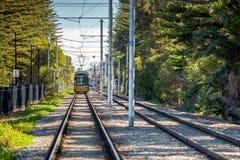 Adelaide Metro-Tram bei Glenelg Stockfoto