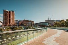 Adelaide miasta linia horyzontu z swój ikonowymi budynkami fotografia royalty free