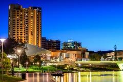 Adelaide miasto przy nocą Fotografia Royalty Free
