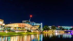 Adelaide-Nachtstadtskyline Lizenzfreie Stockbilder