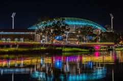 Adelaide Night 11. Adelaide, Australia - SEP 5, 2015: Night time shots showing some of Adelaides beautiful city highlights Stock Photo