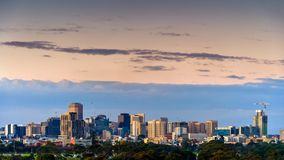 Adelaide night city skyline view royalty free stock images