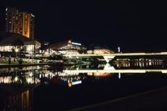 Adelaide nocy rzeczna fotografia Obraz Royalty Free