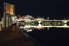 Adelaide nocy rzeczna fotografia Zdjęcie Royalty Free