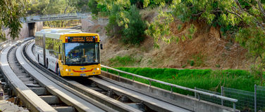 Adelaide O-Bahn Busway Stockfotos