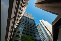 Adelaide office buildings in CBD Royalty Free Stock Photo