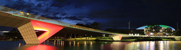 Adelaide Oval Stadium och spång Royaltyfri Foto
