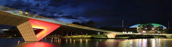 Adelaide Oval Stadium und Steg Lizenzfreies Stockfoto