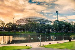 Adelaide Oval- und Torrens-Fluss Lizenzfreie Stockbilder