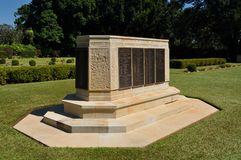 Adelaide River War Cemetry monument Stock Images