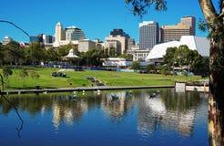 Adelaide Riverbank City skyline Royalty Free Stock Image