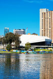 Adelaide Riverbank City skyline vertical. Royalty Free Stock Photos
