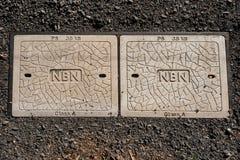 ADELAIDE, SA, AUSTRALIEN - FEBRUAR 2016: der Rollout von NBN fährt fort Lizenzfreies Stockfoto