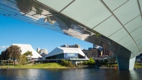 Adelaide skyline and Torrens Riverbank footbridge Stock Photos
