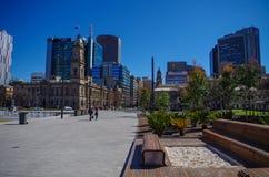 Adelaide Skyline vom zentralen Platz Lizenzfreie Stockfotos