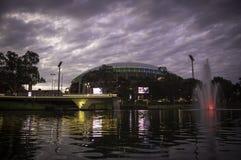 Adelaide solnedgång i staden Arkivbilder