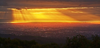 Adelaide am Sonnenuntergang Stockfoto