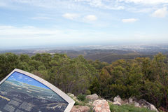 Adelaide, South Australia from Mount Lofty Royalty Free Stock Images