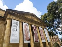 The art gallery of South Australia located in located on the cultural boulevard of North Terrace in Adelaide. ADELAIDE, SOUTH AUSTRALIA. - On November 07, 2018 royalty free stock image