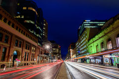 Adelaide-Stadtlichter Stockfotografie