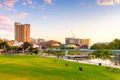 Adelaide-Stadtskyline Lizenzfreie Stockbilder