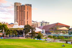 Adelaide-Stadtskyline Stockfotos