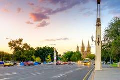 Adelaide-Stadtskyline Stockbilder