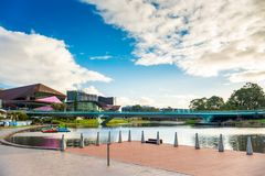 Adelaide-Stadtskyline angesehen von Rundbau Lizenzfreies Stockfoto