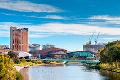 Adelaide-Stadtskyline an einem Tag Lizenzfreies Stockbild