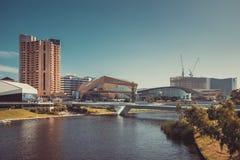 Adelaide-Stadtskyline mit seinen ikonenhaften Gebäuden Stockfoto