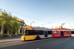 Adelaide-Stadttram, Süd-Australien Lizenzfreies Stockfoto