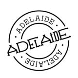 Adelaide stamp on white. Background. Sign, label sticker vector illustration
