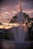 Adelaide - starsza osoba park - wieczór zdjęcie stock