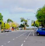 Adelaide-Straßen-Szene Lizenzfreies Stockbild