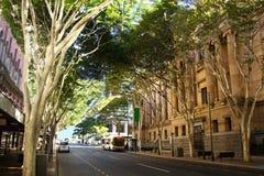Adelaide Street Brisbane. Adelaide Street in Brisbane, Queensland Australia with entrance to Brisbane City Hall stock photography