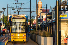 Adelaide-Tram in Glenelg Stockfotos