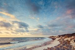 Adelaide-Ufer bei Sonnenuntergang Lizenzfreies Stockfoto