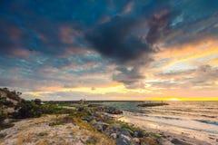 Adelaide-Ufer bei Sonnenuntergang Stockfotos
